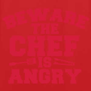 beware the chef cook is angry! tongs and fork Hoodies - Men's Football Jersey