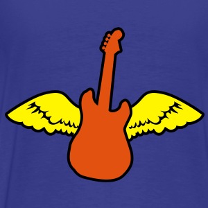 rockabilly country guitar with wings angel Hoodies - Men's Premium T-Shirt