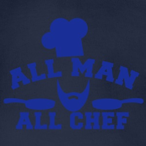 chef cook all man all chef with saucepan  Hoodies - Organic Short-sleeved Baby Bodysuit