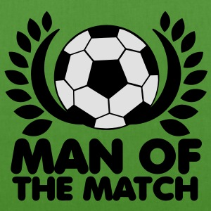 man of the match BEST PLAYER football with wreath Hoodies - EarthPositive Tote Bag