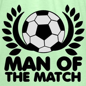 man of the match BEST PLAYER football with wreath Hoodies - Women's Tank Top by Bella