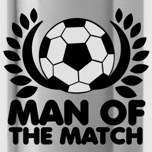 man of the match BEST PLAYER football with wreath Hoodies - Water Bottle