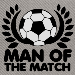 man of the match BEST PLAYER football with wreath Hoodies - Snapback Cap