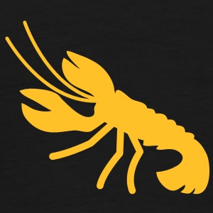 a lobster crayfish marine animal in the ocean  Hoodies - Men's Premium T-Shirt