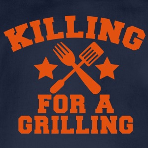 Cook Chef KILLING for a GRILLING MEAT steak BBQ Hoodies - Organic Short-sleeved Baby Bodysuit