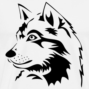 wolf wolves wild rudel pack howling dog husky sledge Bags  - Men's Premium T-Shirt