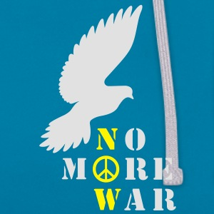 No More War Now - Kontrast-Hoodie