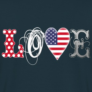 Love USA White - Männer T-Shirt
