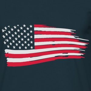 usa_flag_on_blue Hoodies & Sweatshirts - Men's T-Shirt
