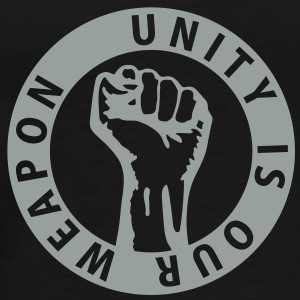 1 color - unity is our weapon - against capitalism working class war revolution Felpe - Maglietta Premium da uomo