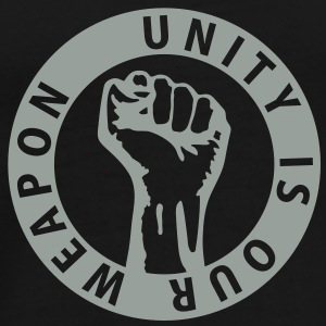 1 color - unity is our weapon - against capitalism working class war revolution Sweaters - Mannen Premium T-shirt
