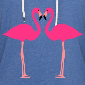 fenicottero, Flamingoes and Heart - Felpa con cappuccio leggera unisex