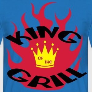king_of_the_grill_flame Tabliers - T-shirt Homme