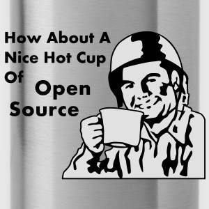 How About A Nice Hot Cup Of OPEN SOURCE Borse - Borraccia