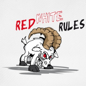 Red White Rules T-Shirts - Baseballkappe