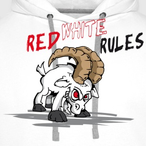Red White Rules T-Shirts - Männer Premium Hoodie