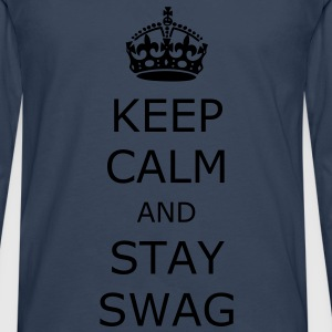 Keep calm and stay swag - Men's Premium Longsleeve Shirt