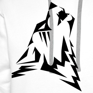 Mens WEARWOLF tribal tattoo T-shirt - Men's Premium Hoodie