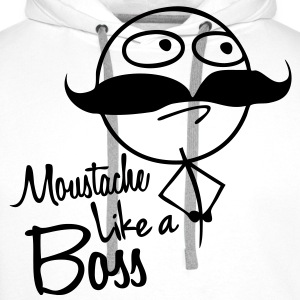 Moustache like a Boss - Men's Premium Hoodie