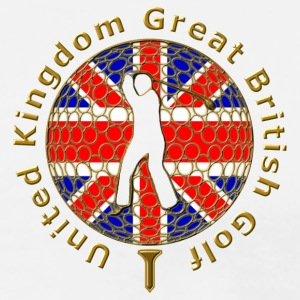 united kingdom great british golf Polo Shirts - Men's Premium T-Shirt