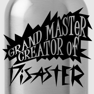 grand master creator of disaster (1c) T-Shirts - Trinkflasche