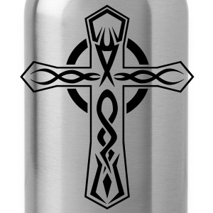 Mens Tribal cross tattoo design Hoodie - Water Bottle
