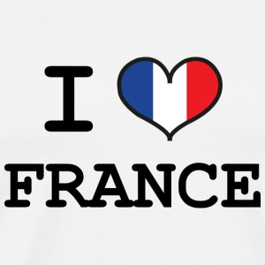 I Love France Buttons / Anstecker - Männer Premium T-Shirt