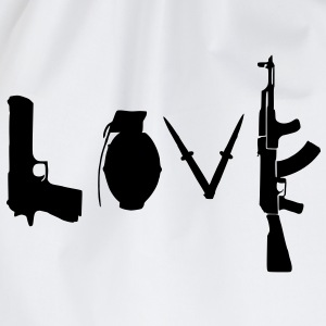 Love / Waffen Design T-Shirts - Turnbeutel