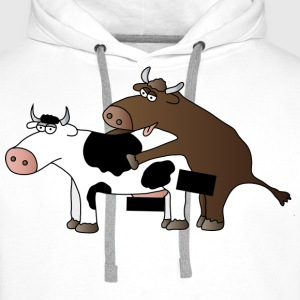 cattle censored T-Shirts - Men's Premium Hoodie