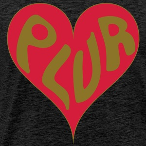 PLUR - Peace love unity respect mantra in a heart - Men's Premium T-Shirt