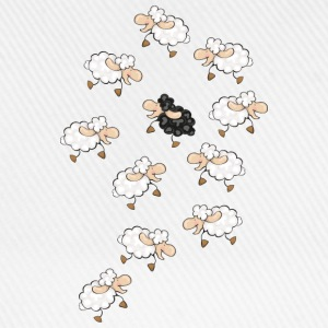 A large flock of sheep, with a little black sheep Mugs  - Baseball Cap