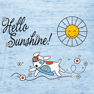 Hello sunshine, hello sping and summer kids Kids' Shirts - Women's Tank Top by Bella
