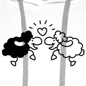 Little love sheep Tee shirts - Sweat-shirt à capuche Premium pour hommes