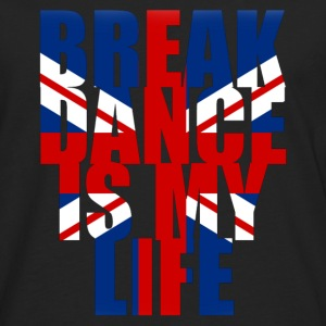 break dance is my life angleterre Bags  - Men's Premium Longsleeve Shirt