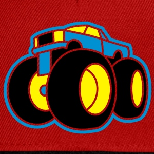 3 col - Extreme Monster Truck Sport Hot Cars Damage Jeep Cross Pickup Van T-shirts - Snapbackkeps