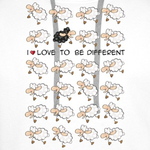 I love to be different Tazze - Felpa con cappuccio premium da uomo