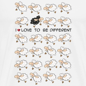 I love to be different Tazze - Maglietta Premium da uomo