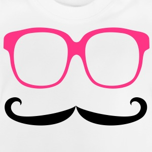 Moustache & Glasses Kinder sweaters - Baby T-shirt