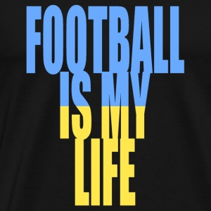 football is my life ukraine Bags  - Men's Premium T-Shirt