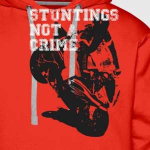 Stuntings Not A Crime T-Shirts - Men's Premium Hoodie