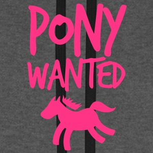 pony wanted with cute little horse and funky font  Bags  - Unisex Baseball Hoodie