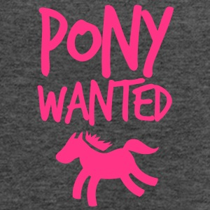 pony wanted with cute little horse and funky font  Bags  - Women's Tank Top by Bella