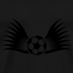 ball with wings small 1c Paraply - Premium T-skjorte for menn