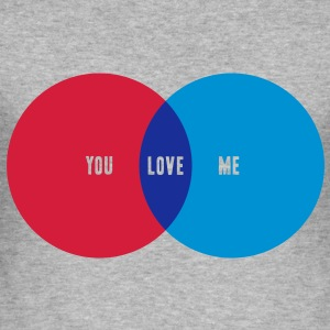 YOU + ME = LOVE Pullover - Männer Slim Fit T-Shirt