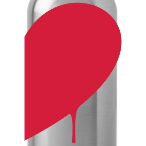 Half Heart Man T-Shirts - Water Bottle