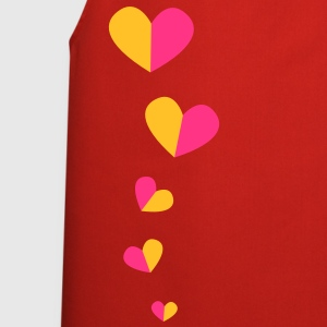 5 half hearts in a line down funky! Jackets & Vests - Cooking Apron