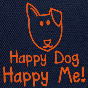 HAPPY DOG Happy me! cute shelter dogs design Jackets & Vests - Snapback Cap