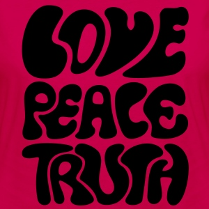 Love Peace Truth * Lifestyle 70s T-Shirts Goa T-shirts - Långärmad premium-T-shirt dam