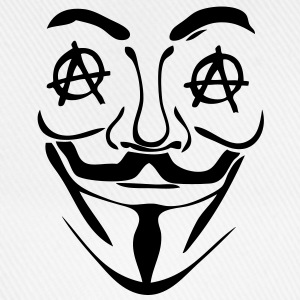 logo anarchy anonymous3 masque mask Sweat-shirts - Casquette classique