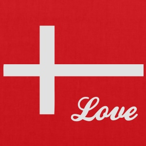 Love Denmark Danmark Daenemark Men's T-Shirt - Tote Bag